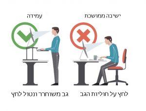 שולחן עמידה ישיבה - דגש על היתרון המוצר